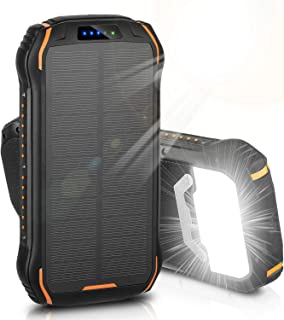Solar Charger, ENEGON Portable Outdoor Solar Panel Power Bank 26800mAh Large Capacity with 18 LEDs Flashlight and 3 Output...