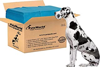 PETSWORLD Great Dane Dog Training Pads 36x36 Heavy Duty Pet and Puppy Training Pads, XXXL 50-300-Count Pee Pads for Dogs