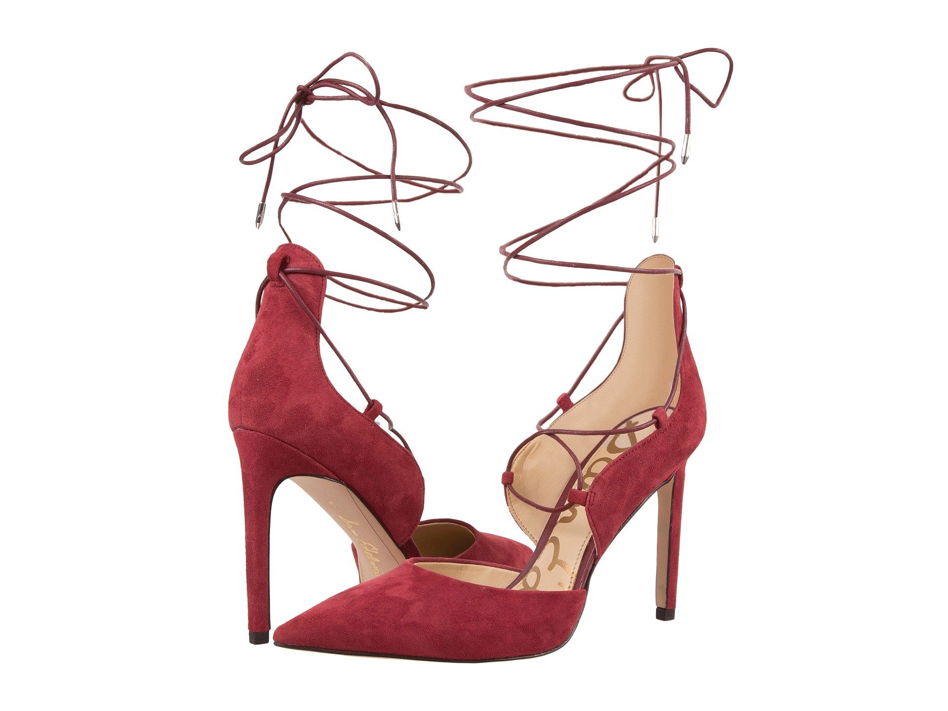 3d647296fd25 Sam Edelman Helaine In Tango Red Kid Suede Leather
