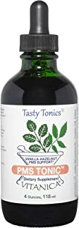 Vitanica PMS Tonic, Premenstrual Support and Relief, Saint Johns Wort, Dong Quai, Chaste Tree Berry, Wild Yam and More, Ve...