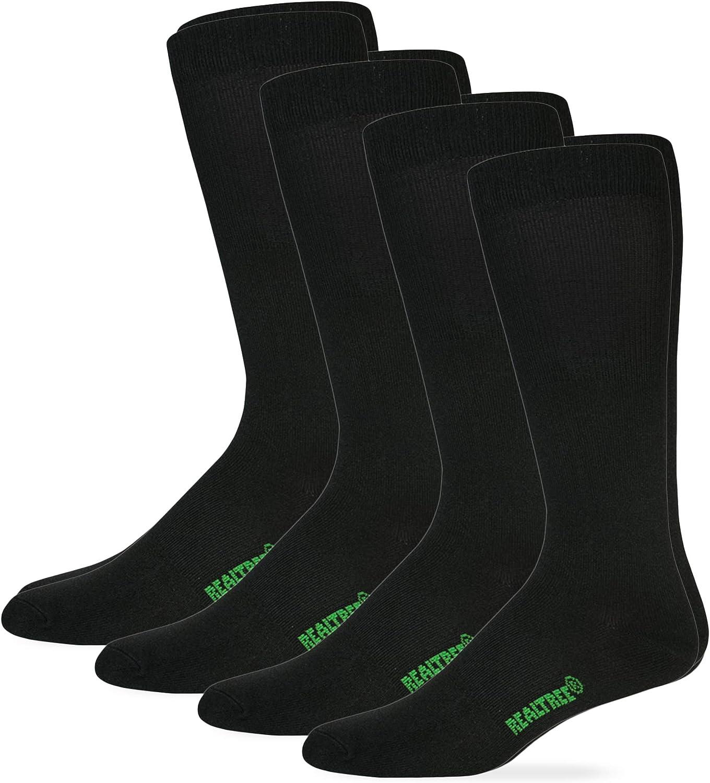 Realtree Mens Lightweight Liner Mid-Calf Tall Boot Socks 4 Pair Pack
