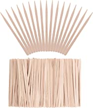 Whaline 400 Pieces Small Wax Sticks Wood Spatulas Applicator Craft Sticks for Hair Eyebrow Removal