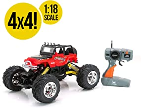 RC CHARGERS Jeep Rock Crawler Off-Road RC Truck | Extreme Flex 4X4 Chassis, Superior Suspension, Off-Road Capable, 27MHz, Pistol Grip Control | AA Batteries Included