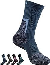 Men's Hiking Socks Outdoor Boot Work Socks w/Anti-Odor-Blister Moisture Wicking Germanium & Coolmax All Season 1/2 pairs