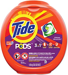 Tide 3-in-1 Pods Laundry Detergent, 64 Oz, Pack of 72 Pods