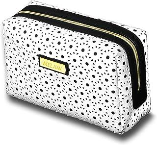 SNONNJ 化粧ポーチ コスメ ポーチ バッグ 機能的 大容量 化粧品収納 小物入れ 普段使い 旅行 出張 (四角化粧ポーチ,ホワイト)