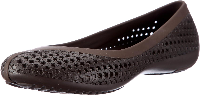 Crocs Women's CrosMesh Ballet Flat Red