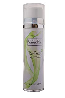 Alcohol-Free Witch Hazel Facial Toner that Refreshes Skin After Long Flights or Air Conditioned Rooms (4 Ounces) by Ozone ...