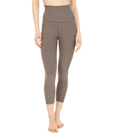 Beyond Yoga Spacedye High Waist Capris (Cocoa Brown) Women