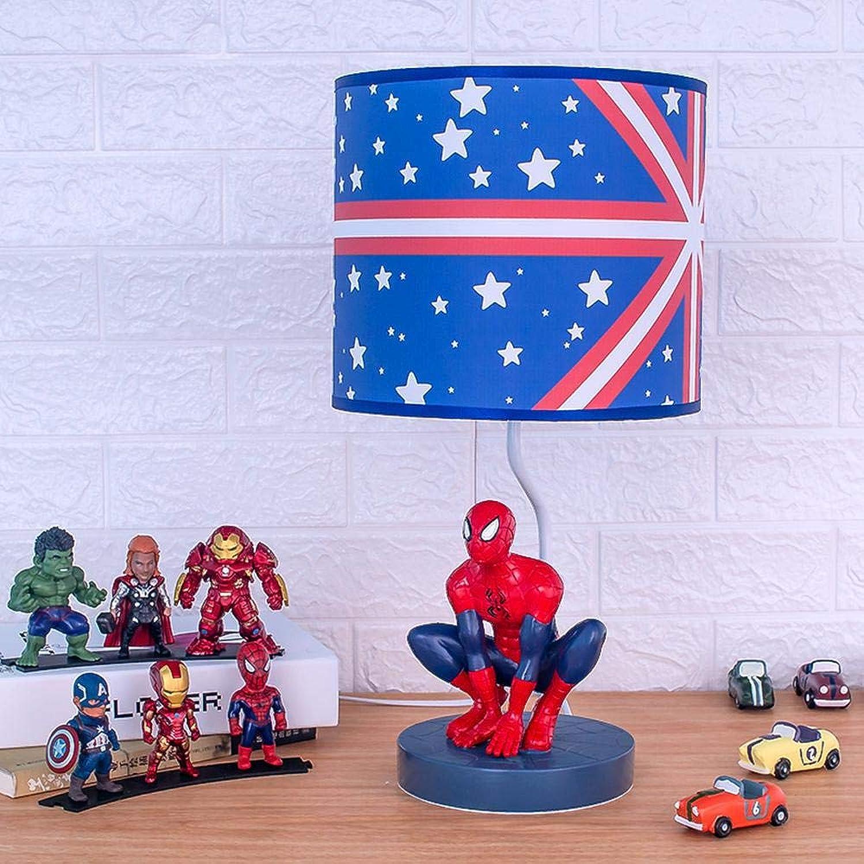 Marvel model Avengers Modell Augenschutz Kinderzimmer Spider-Man Tischlampe,Anime-Modell Kreative Persnlichkeit Schlafzimmer Nachttischlampe, Junge Cartoon Verdunkelung Nachtlicht -48  25cm A