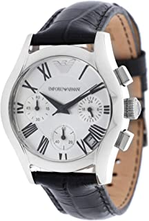 Emporio Armani Women's Quartz Watch Ar0670 With Leather Strap, Analog Display