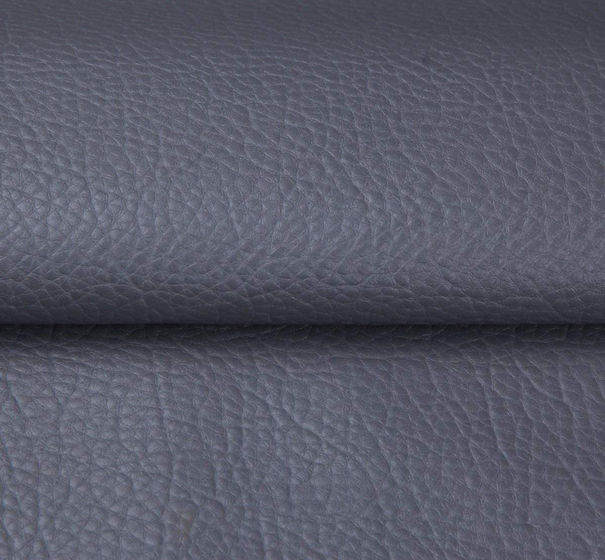 MAGFYLY Leather Material Fabric Grained Faux Leather Fabric Heavy Duty Leatherette Leather Cloth Upholstery Textured Material Sold by Meter Per 1 Meter X 138cm (Color : Gray)