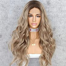 Sapphirewigs Long #8 Roots Ombre Brown Natural Wave Heat Resistant Hair Women Valentine's Day Gifts Valentine's Day Gifts Wedding Party Present Daily Makeup Synthetic Lace Front Wigs