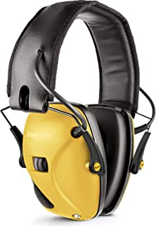 awesafe Electronic Shooting Earmuff, Shooting Ear Protection Noise Reduction Sound Amplification Electronic Safety Ear Muffs,NRR 22 dB Ideal for Shooting and Hunting