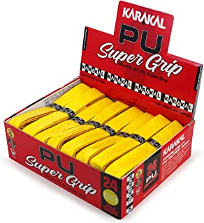 Karakal Super PU Replacement Grips - Squash - Badminton - Yellow - (24 Grips)