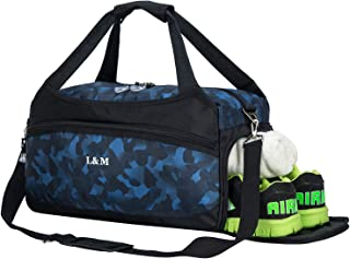 Sports Gym Bags with Wet Pocket and Shoes Compartment Travel Duffel Bag for Men&Women
