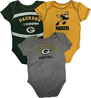 OuterStuff Green Bay Packers Infant Toddler 2 Piece Creeper Set