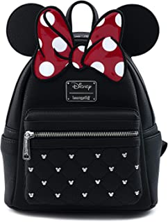 Disney Minnie Mouse Bow Faux Leather Womens Double Strap...