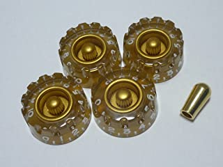 (MADE IN JAPAN)High Quality Speed Custom Knob,Print,Gold,metric,Set