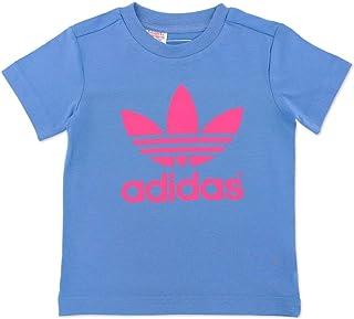 adidas Originals AC TREFOIL TEE Niños niña Camiseta de color azul claro rosa 92–140