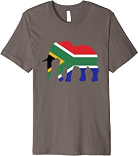 fc1fa395ad6f9 Elefant Südafrika T-Shirt Afrikanische Flagge Safari