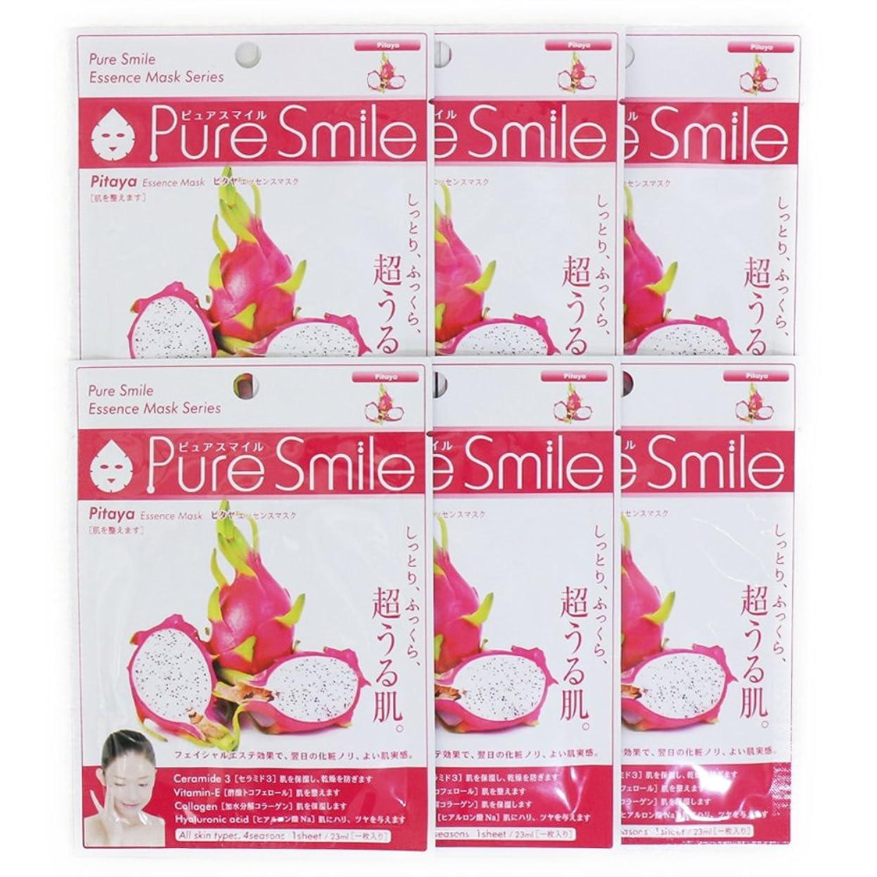 増強する批評礼拝Pure Smile ピュアスマイル エッセンスマスク ピタヤ 6枚セット
