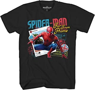 Spiderman Spider-Man Far from Home Passport Adult T-Shirt