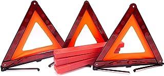 Fasmov 3 Pack Triangle Warning Frame Triangle Emergency Warning Triangle Reflector Safety Triangle Kit, Emergency Triangle...