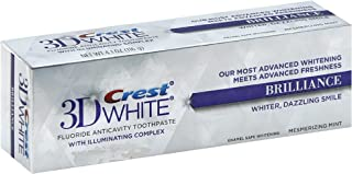 Crest 3D White Vivid Fluoride Anticavity Toothpaste - 0.85 oz - Radiant Mint - 3 pk