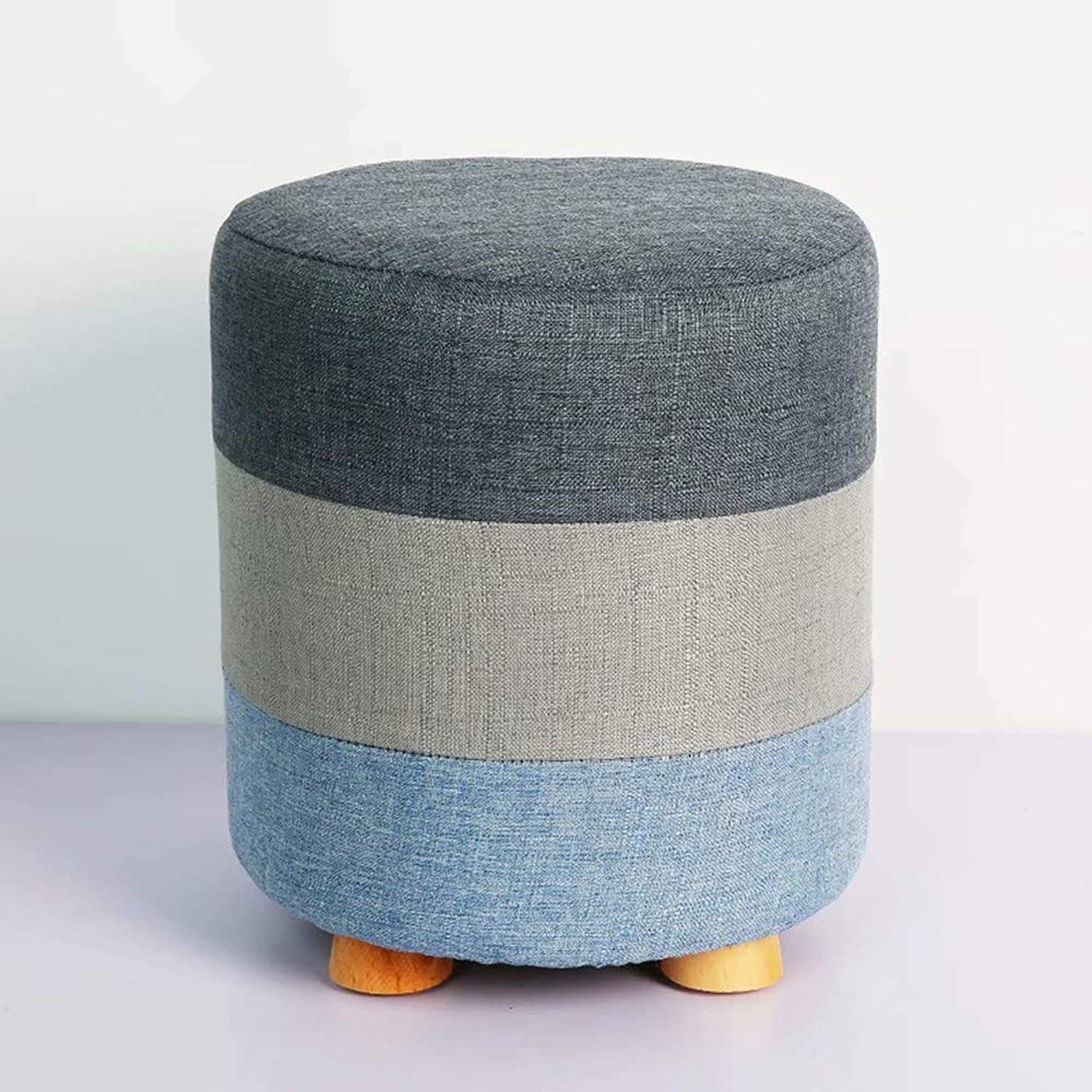 Storage Stool, Home Makeup Stool Can Sit Adult Solid Wood Multi-Function Family Footstool Sofa Stool Change shoes Bench