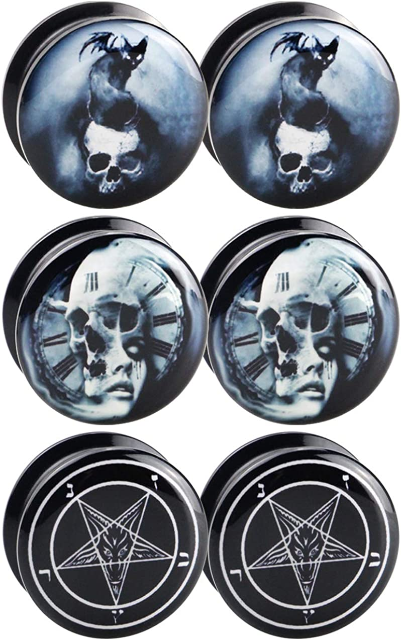 Awinrel Black UV Topics on TV Acrylic Online limited product Screw Fit Plug Stretc Gauges Tunnel Ear