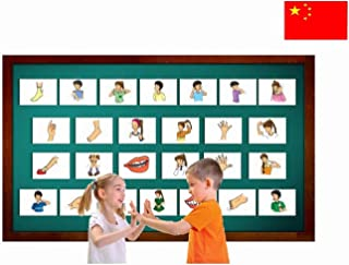 Body Parts Flashcards in Chinese - Traditional & Simplified Characters - Vocabulary Picture Cards for Toddlers, Kids, Children and Adults - Mandarin / Pinyin