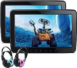XTRONS Dual Car Headrest Video Player 11.6 Inch IPS Screen Portable Car Headrest Mount Monitor with 2 Children Wireless IR...