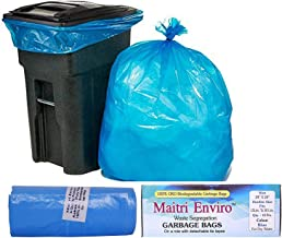 Maitri Enviro OXO Biodegradable Garbage Bag Roll (Blue, Large, 24 x 26 Inch) -8 Rolls, 144 Bags
