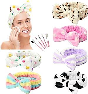 YMHPRIDE 6 stuks Spa Hoofdband Strik Haarband voor Meisjes Vrouwen Mooie Zachte Carol Elastische Hoofdband Haar Wrap Make-...