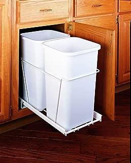 Double Trash Pullout 27 Quart -White
