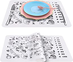 SZMDLX Silicone Placemats for Kids, Children, 2 Pcs Set, Non-Stick and Non-Slip, Heat Resistant Dinner Table Place Mats, F...