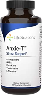 Sponsored Ad - LifeSeasons - Anxie-T - Anti Anxiety Support Supplement to Combat Stress - Calm and Stress Supplement - Fee...