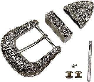 TOME Western Cowboy Buckle 38MM Antique Silver Belt Buckle Set 1.1/2