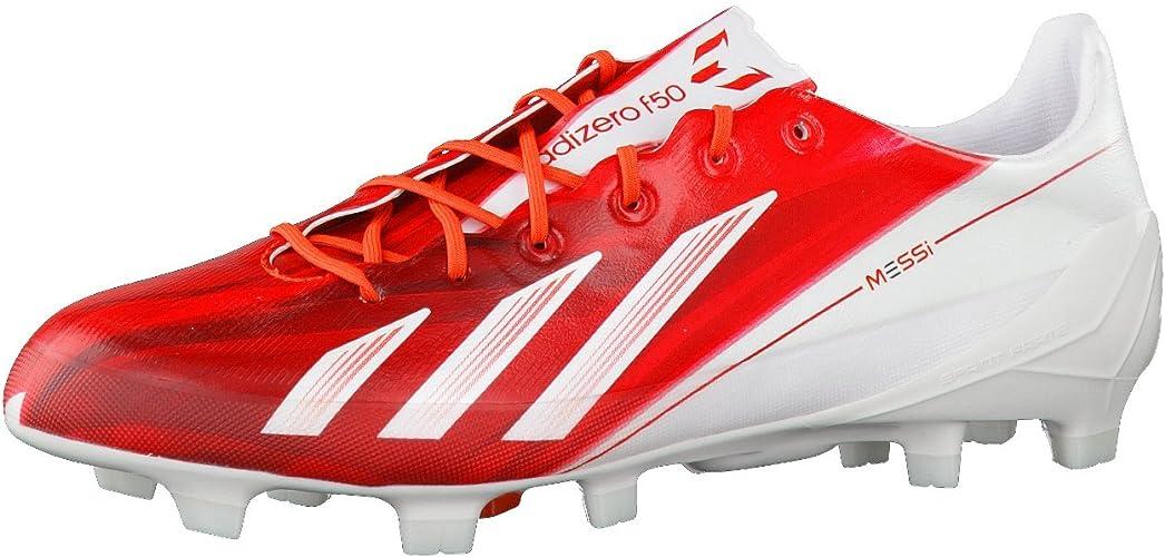 adidas Chaussure Football Adizero F50 TRX FG SYN Messi Blanc-Rouge ...