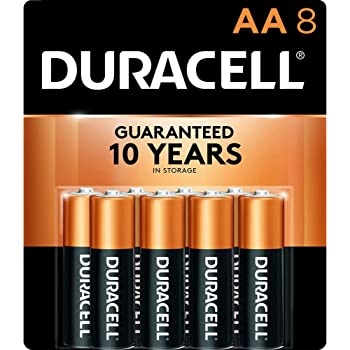 Duracell - CopperTop AA Alkaline Batteries - long lasting, all-purpose Double A battery for household and business - 8 Count