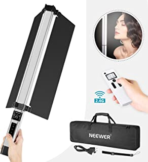 Neewer Light Wand Handheld LED Video Light Stick Photography Lighting Kit with Barndoor/Remote Control/Carry Bag, USB Rechargeable/10 Brightness Levels/1500 Lumen/Color Temperature 3200K-5600K