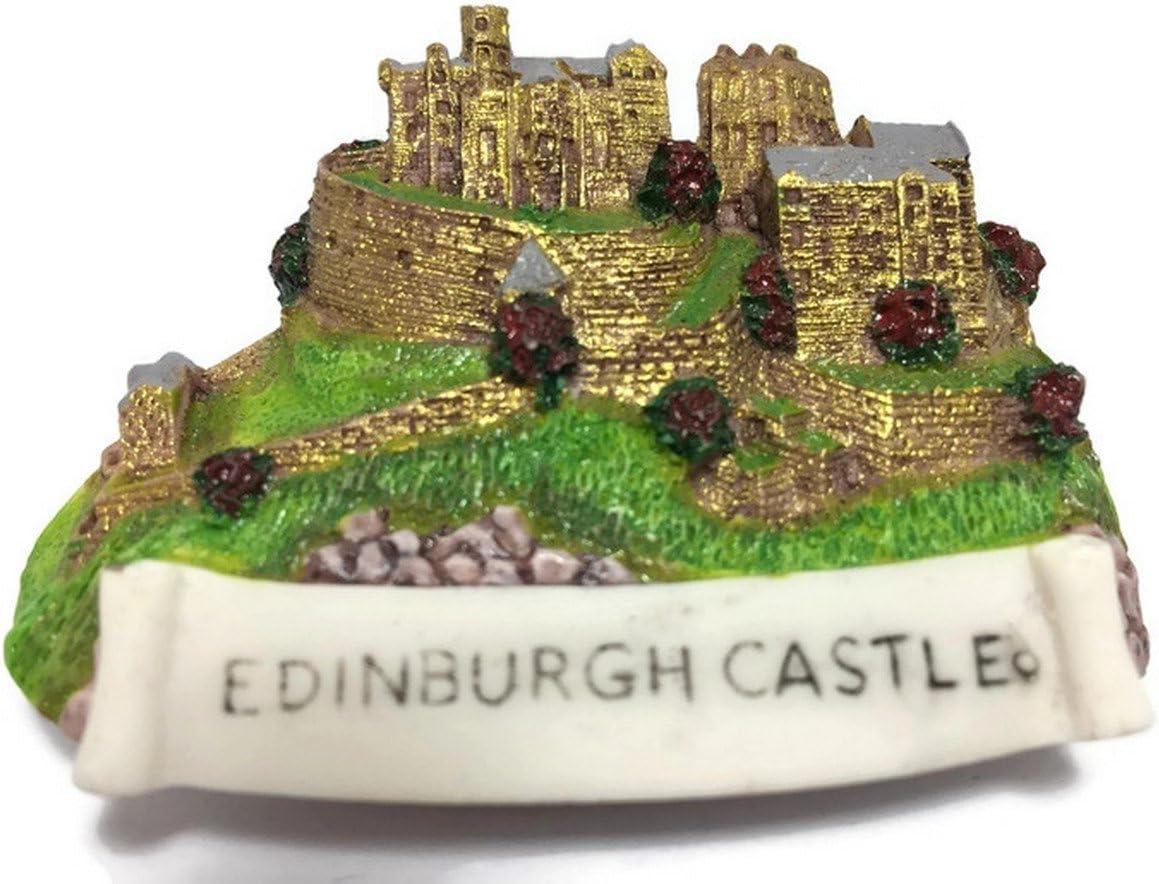 Large special price !! Edinburgh Castle Genuine Scotland Souvenir Fridge 3D Refriger Collection