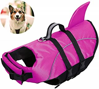AOFITEE Dog Life Jackets - Ripstop Pets Life Vest, Reflective Float Coat, Safety Lifesaver for Small Medium and Large Dogs