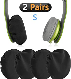 """Geekria Flex Fabric Headphone Earpad Covers/Stretchable and Washable Sanitary Earcup Protectors. Fits 1""""-3"""" On-Ear Headset Ear Cushions/Good for Gym, Training (Black, 2 Pairs)"""