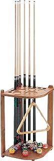 Viper Hardwood Corner Floor Billiard/Pool Cue Rack, Holds 10 Cues, Oak Finish