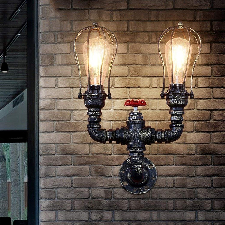 CN American Retro Industrie Feng Shui Shui Shui Rohr Wandleuchte Bar Bar Restaurant Loft Persönlichkeit Kreative Eisen Wandleuchte B07JV8DCCH | Praktisch Und Wirtschaftlich  29e4d3