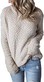 Women's Casual Pullover Mock Neck Long-Sleeved Tops Knit Sweaters