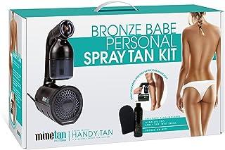 MineTan Bronze Babe Personal Spray Tan Self Tanning Salon Results Kit with Handy Tan Spray Gun