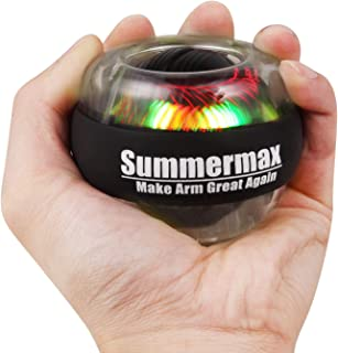 Summermax Wrist Power Gyroscopic Ball,Wrist Strengthener and Forearm Exerciser for Stronger Arm Fingers Wrist Bones and Muscle (Black)